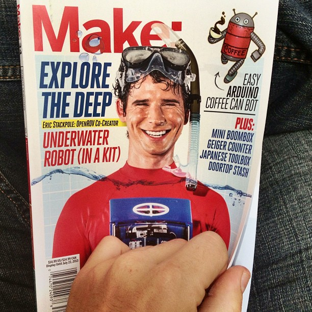 Make #34 (in stores now) features a story on me and some of my studio mates. Thanks Make for the awesome write up. #almostscientific #herodesign